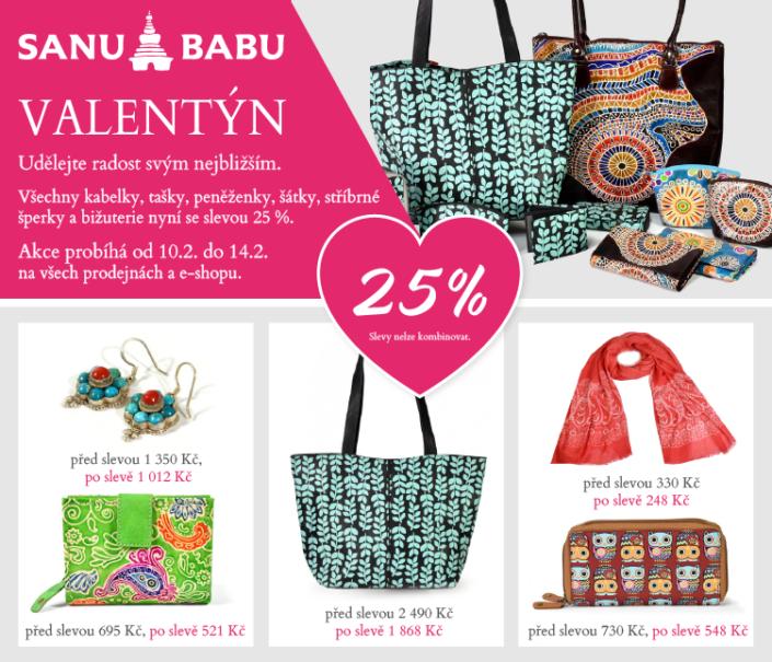 Newsletter pro akci Valentýn SANU BABU