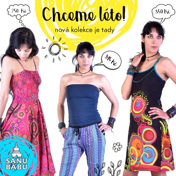 Facebook banner pro letní kolekci SANU BABU