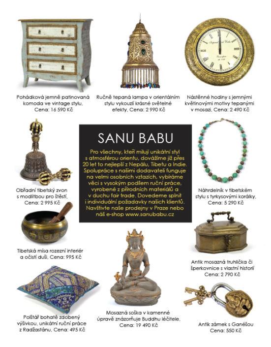 Návrh stránky v časopise Luxury Guide SANU BABU