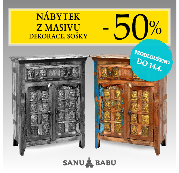 Facebook banner pro akci výprodej nábytku SANU BABU