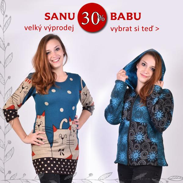 Facebook banner pro velký výprodej SANU BABU