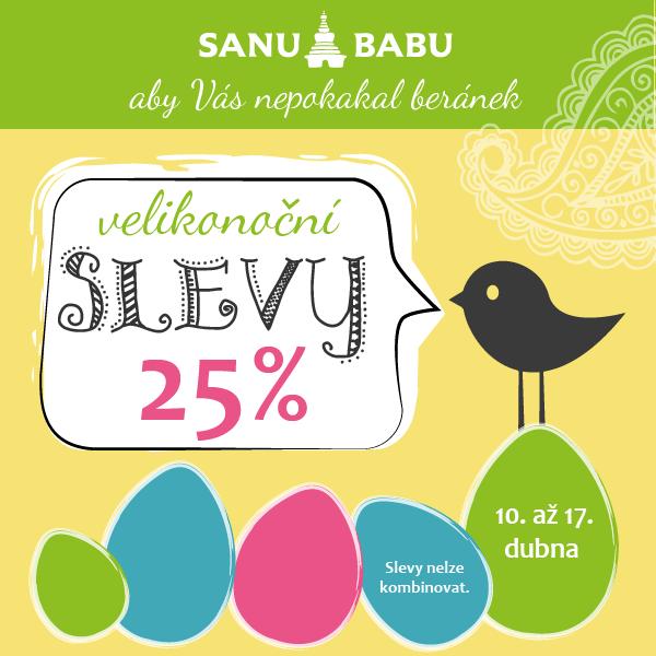 Facebook banner pro akci Velikonoce SANU BABU