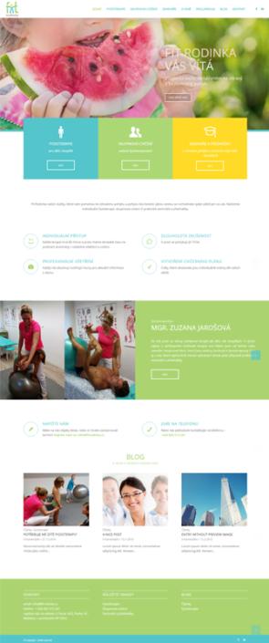 Webový design a tvorba webu Fit Rodinka