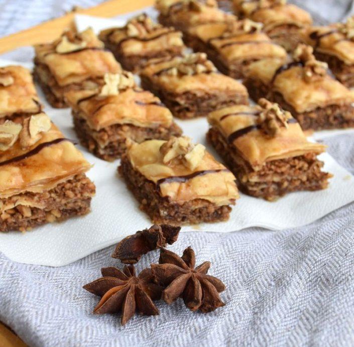 Fotografie jídla, turecká baklava