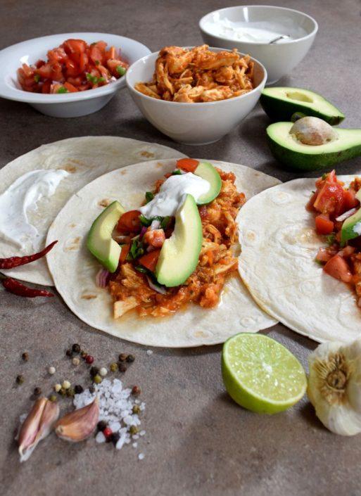 Fotografie jídla, mexické tacos
