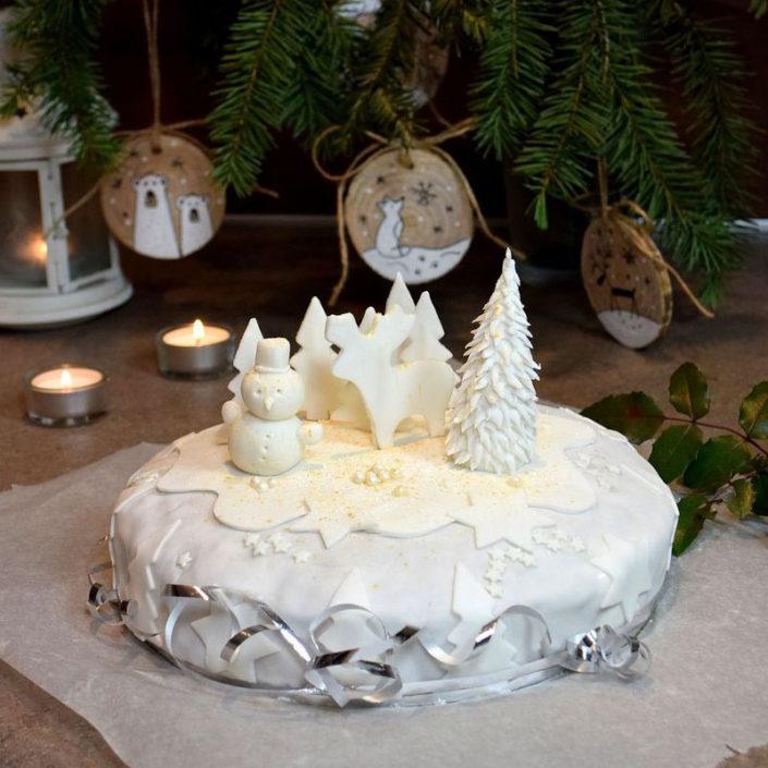 Fotografie jídla, vánoční dort