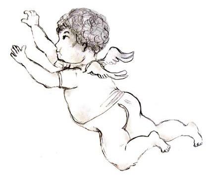 Kresba anděla na PF