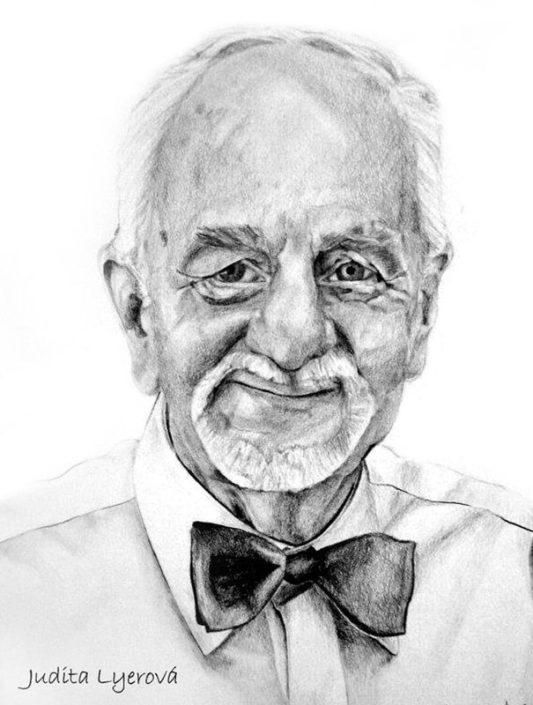 Kresba portrétu podle fotografie, A3, tužka