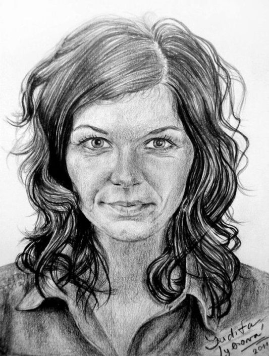 Kresba portrétu podle fotografie, A5, tužka