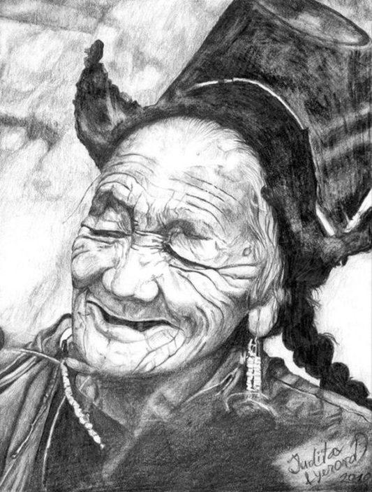 Kresba portrétu podle fotografie, A4, tužka