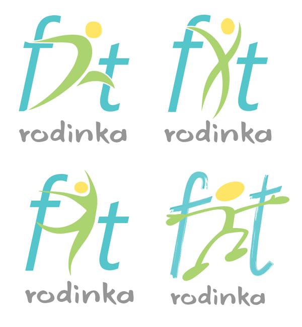Návrhy a tvorba finálního loga Fit Rodinka