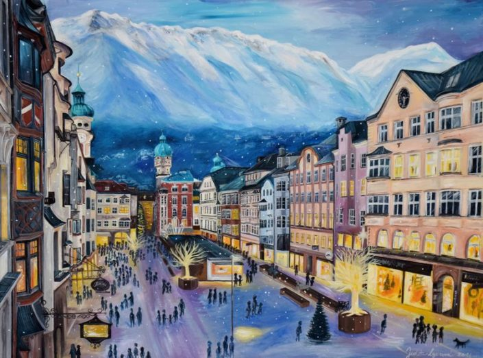 Malba Innsbruck, akryl na plátno
