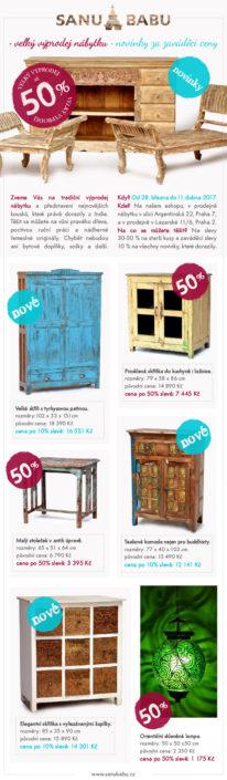 Newsletter pro akci výprodej nábytku SANU BABU