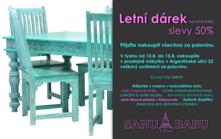 Newsletter pro akci slevy na nábytek SANU BABU
