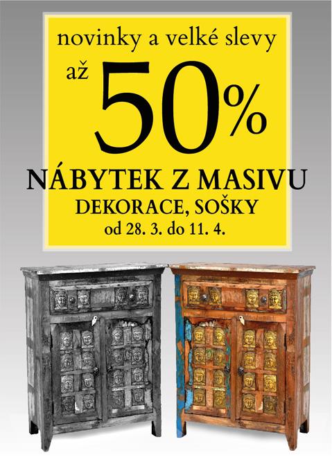 Návrh plakátu pro akci výprodej nábytku SANU BABU