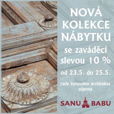 Reklamní banner pro akci nábytek SANU BABU