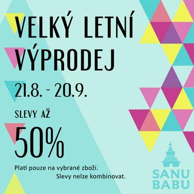 Reklamní banner pro akci výprodej SANU BABU