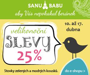 Remarketingový banner pro akci Velikonoce SANU BABU