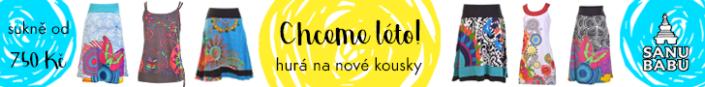 Remarketingový banner pro letní kolekci SANU BABU
