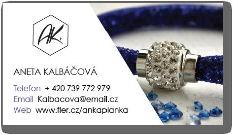 Návrh vizitky pro AK šperky