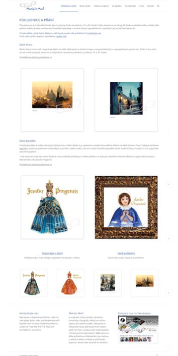 Webový design a tvorba webu Maria's Mail