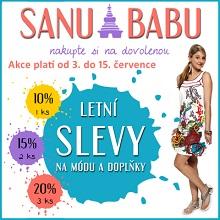 Webový banner pro letní slevy SANU BABU