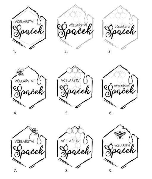 Návrh logotypu pro Včelařství Špaček